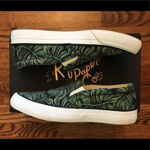 Keds x Rifle Paper Co. Anchor Palms Slip-Ons
